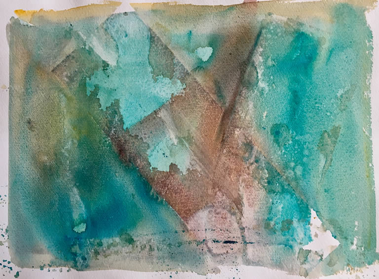 Here's the Rain - Abstract Watercolour Painting by Rene Sandberg