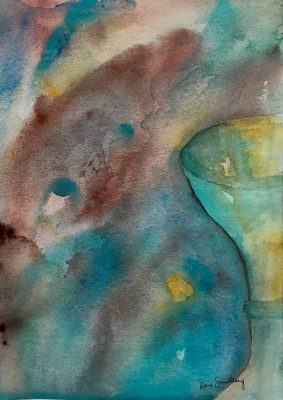 I C Cocktails - Abstract Watercolour Painting by Rene Sandberg