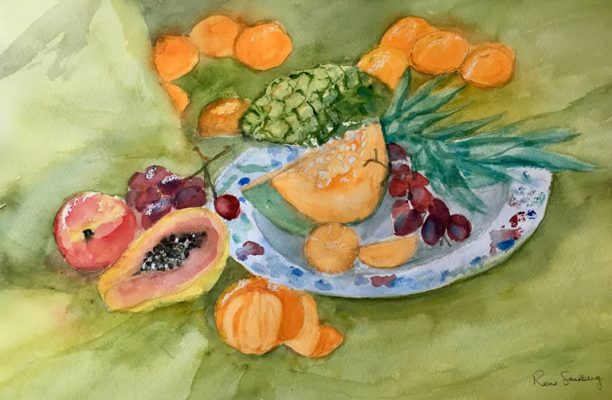 Fruit - Still Life Watercolour Painting by Rene Sandberg
