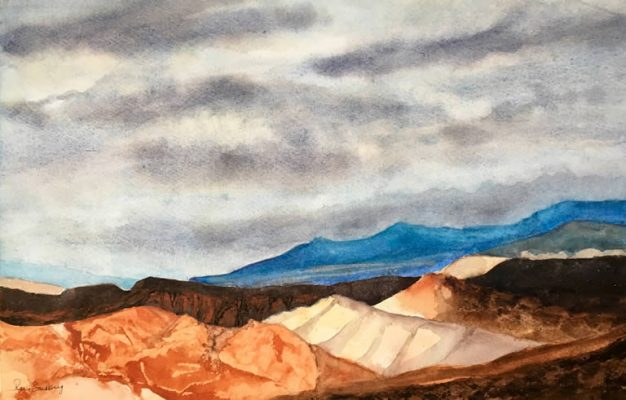 Valley of Fire - Landscape Watercolour Painting by Rene Sandberg