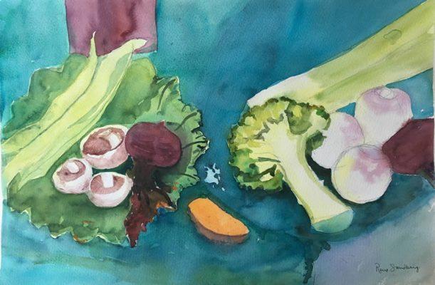Vegetables - Still Life Watercolour Painting by Rene Sandberg