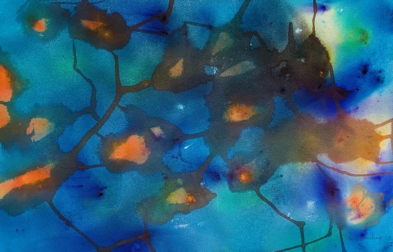 Goldfish Watercolour Painting by Rene Sandberg